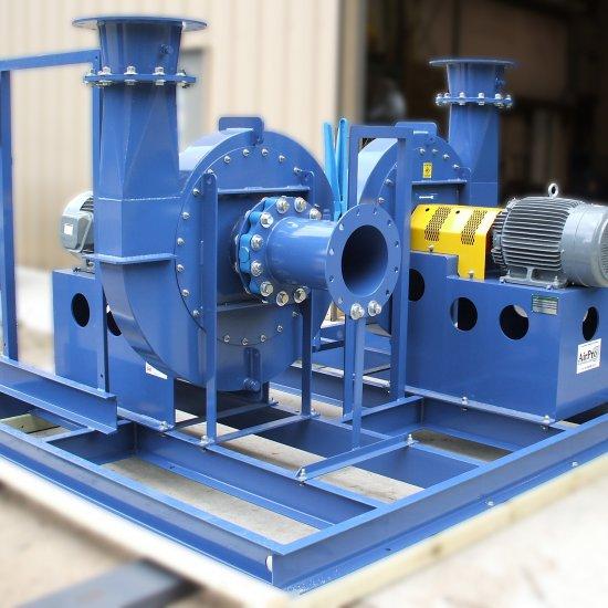 High Volume Low Pressure Blower : High pressure blower radial shrouded airpro fan