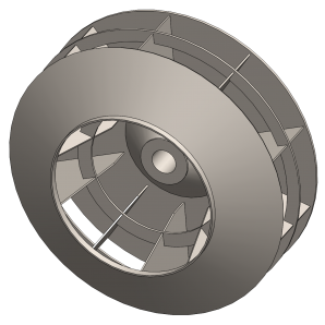 Industrial Exhauster Fan Wheel| Radial Shrouded