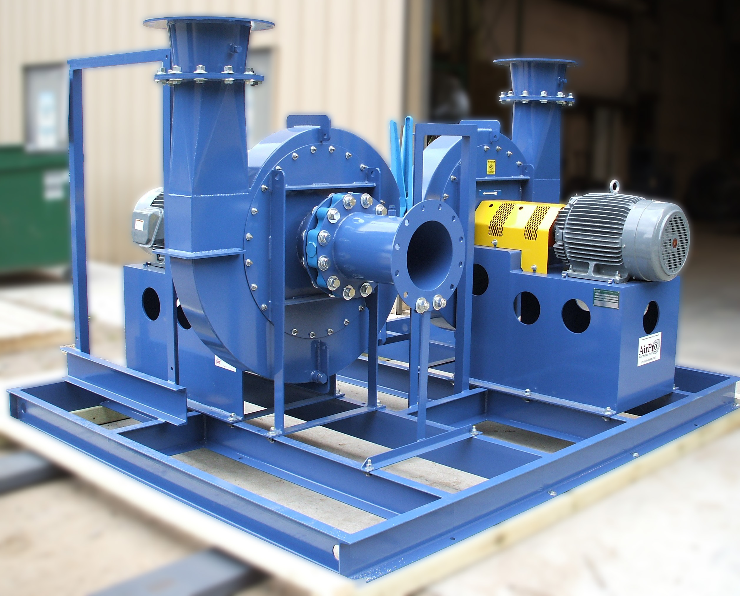 High Pressure Centrifugal Blowers : High pressure blower radial shrouded airpro fan