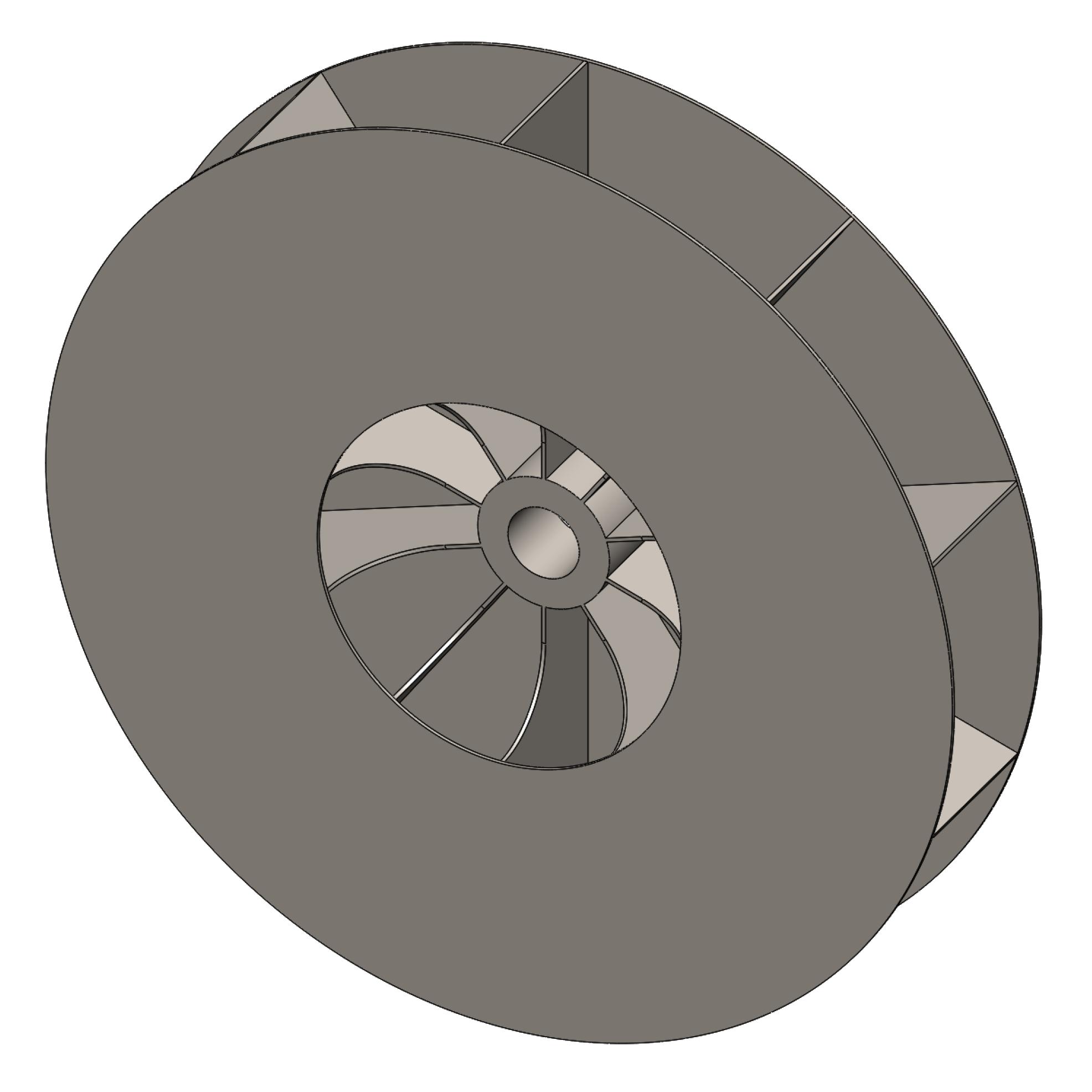 Blower Fan Design : High pressure blower radial shrouded airpro fan
