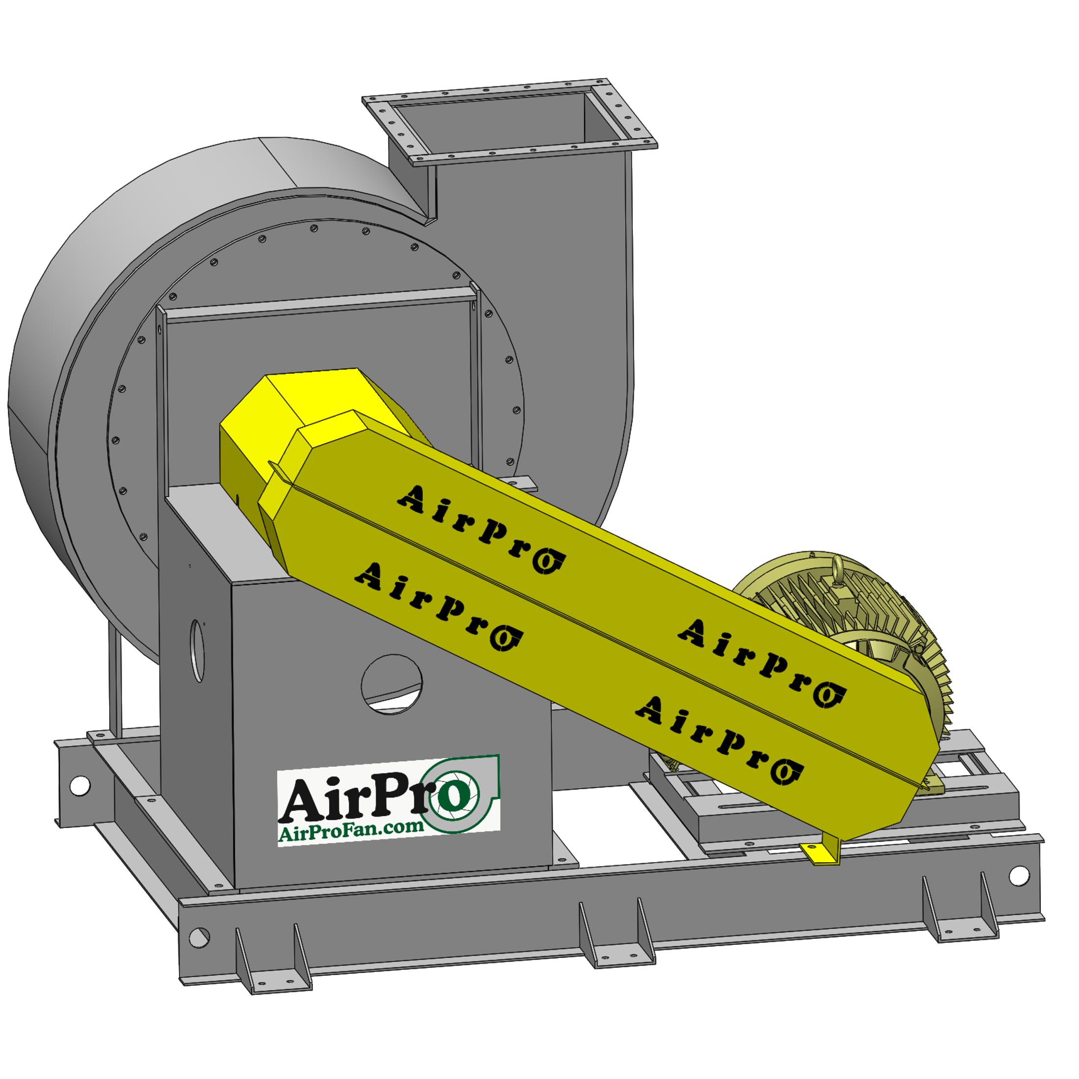 Industrial Exhaust Fan Trim Handling AirPro Fan & Blower #C9C900