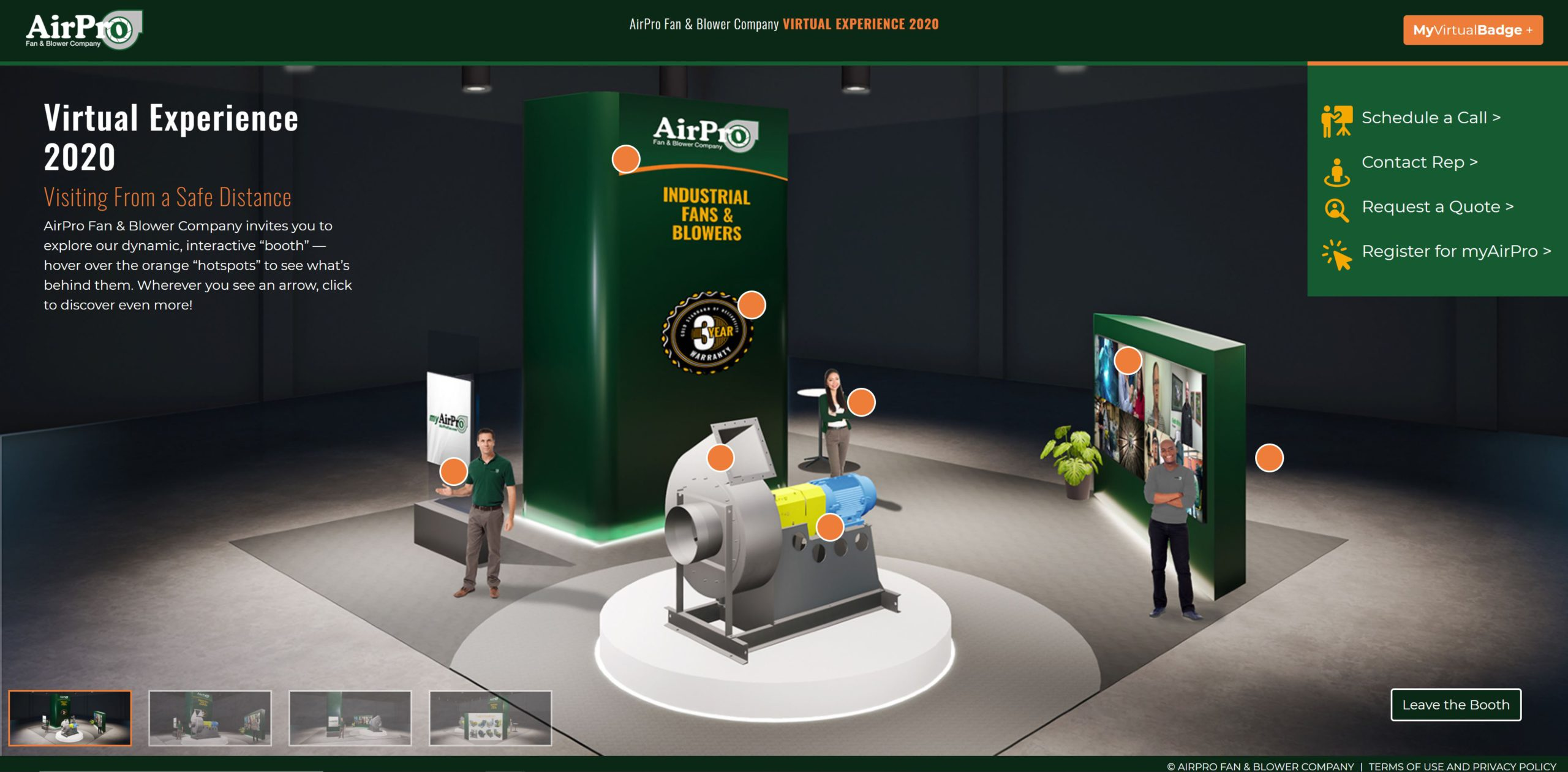 AirPro Virtual Booth